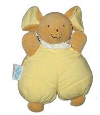 Doudou Tissu SOURIS jaune Petit Caid Histoire d'Ours 23 cm