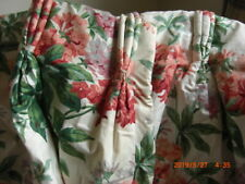 Laura Ashley Winter Lined Floral Country Cottage Curtains Pair 3 Pencil Pleats