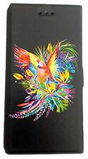 Etui Housse Book pour Huawei Mate 10 Lite avec support Noir Perroquet tropical