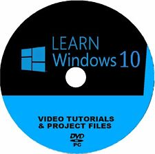LEARN WINDOWS 10 VIDEO TRAINING/LESSONS SYSTEM 4 BEGINNERS BY IT EXPERTS PC DVD
