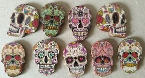 Crafts-Cardmaking Buttons - Skulls - Faces - Uk FREEPOST-From 99p-Lots of Themes