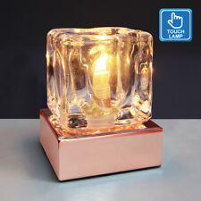 Dimmable Touch Table Light Glass Ice Cube Bedside Study Office Dimmer Lamp M0111
