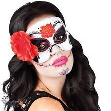 MUJER HALLOWEEN mexicana día de los muertos Festival Azúcar Calavera ANTIFAZ