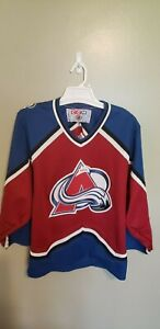 COLORADO AVALANCHE CCM HOCKEY JERSEY SIZE SMALL ADULT