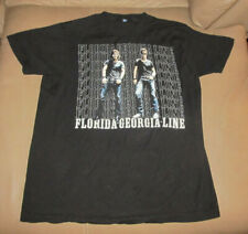 Florida Georgia Line Tour 2013 Black T- Shirt Adult Size M Medium Country Music