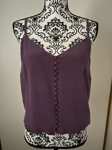 MADEWELL Button-Down Cami Purple Color, Sz. 10