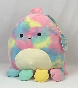 Squishmallows Series 1 Soft Plush BACKPACK 12 inches OPAL the Octopus