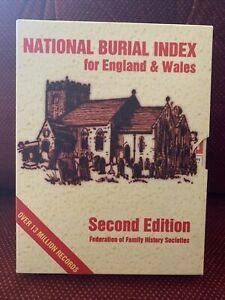 NATIONAL BURIAL INDEX FOR ENGLAND & WALES SECOND EDITION 2004  CD'x4