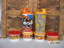 ^ 6 Set Tupperware NEW Disney Snack Cups, Bowls with lids , Jars, Box (Mango)