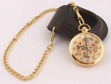 Open Face Gold Plated Modern Pocket Watches