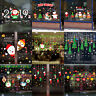 Christmas Window Wall Sticker Snowflake/Elk/Snowman/Santa Claus Home Xmas Decors