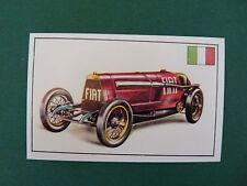 N°258 FIAT A/12 BIS ITALIE 1924 PANINI 1972 HISTOIRE DE L'AUTOMOBILE