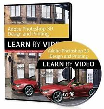 Learn By Video guide DVD-ROM Adobe Photoshop for 3D Design New  Free Shipping!!!
