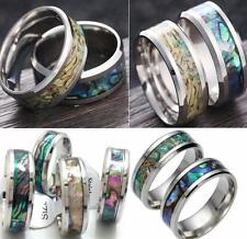 6pcs Mens Tungsten Ring With Abalone Shell Inlay Wedding Band Engagement rings