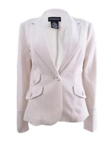 Sutton Studio Womens Notch Collar Blazer Jacket Petite (6P, Vanilla) [Apparel]