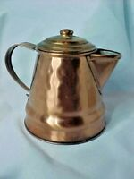 "Copper Pot Gregorian Hammered USA Vintage SMALL Coffee Teapot STYLE 4"" creamer"