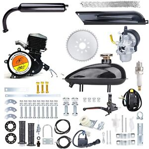100CC Motorized Bicycle Gas DIY Engine Complete Motor kit - BLACK