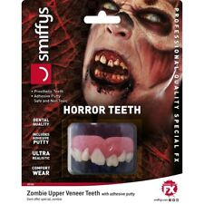 HORROR ZOMBIE DENTI SUPERIORE impiallacciatura DENTI DI HALLOWEEN ACCESSORIO