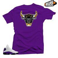 Shirt Match Jordan Retro 13 Lakers Sneaker Tees-The BULL  Purple