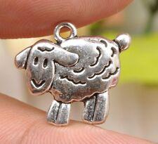 12 pcs tibetan Silver cute sheep lamp farm animal  Charms Pendants Beads A3317