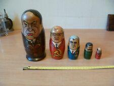(B56)  POUPEES RUSSES DIRIGEANTS SOVIETIQUES