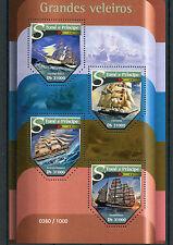 Sao Tome & Principe 2015 MNH Tall Ships 4v M/S Sailing Sailboats Boats Stamps