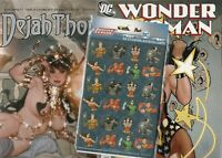 WONDER WOMAN 750 ADAM HUGES AND DEJA THORIS   AH  BOTH NM  BONUS STICKERS