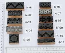 Ornamente Jugendstil Wäschestempel Stempel Stoffstempel Textildruck Stoffdruck