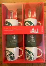 Starbucks Porcelain Mugs Gift Set Of 4 14oz Mugs Coffee/ Cocoa Exp 01/19