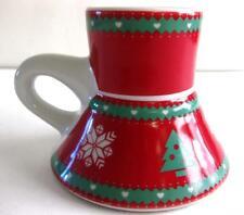 PRE-OWNED SPILL-FREE/ NON-SLIP BOTTOM CHRISTMAS DESIGN STONEWARE MUG