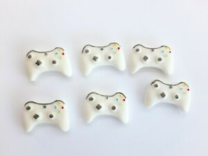 White 6 cupcake size xbox controllers Edible Topper