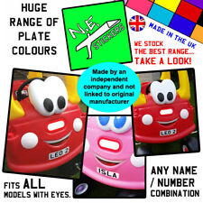 Personalised FRONT number plate sticker TO FIT Little Tikes Cozy Coupe toy car