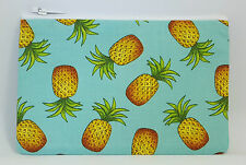 Funky Tropical Pineapple Fabric Handmade Zippy Coin Purse Storage Pouch