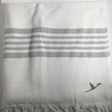 Copper+Crane Peshtamel Bath Towel- Gray Stripes