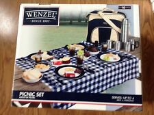 New listing Wenzel Picnic Set With Carry Bag, Serves up tp 4 Persons over 30 Pieces New!