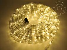 Tubo luminoso a led di Natale bianco caldo 20 mt 8 giochi luci per esterno e int