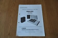 Philips 13GF828 Record Players Workshop Service Manual
