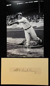 Vintage 1935 Bill Terry New York Giants Signed Cut HOF D 1989 PSA DNA