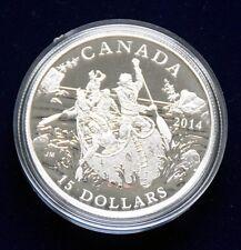 "CANADA 15 Dollar 2015 ""Kanutour durch Canada"" Silber polierte Platte"