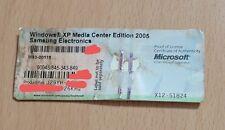 Microsoft Windows XP Media Center Edition 2005 COA Product Key Only