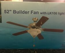 "YOSEMITE PREMIUM 52"" Builder Ceiling Fan Patina Grey with Light Kit Included NIB"