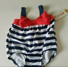 Infant Girls Cat & Jack 4th July Red White Blue One Piece Swimsuit Snaps  3-6 M