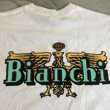 New Bianchi T-shirt Celeste Bicycle Logo Vintage - S Small