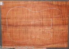 Spalted Curly Maple Wood #5473 Luthier Electric Bass Guitar top set  25+x18x 1/2