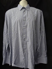 """(192JUN) 17"""" collar *FRENCH CONNECTION* Smart blue checked shirt mens"""