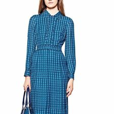 Tory Burch Kim Dress Blue Sz 14 NWT MSRP $495 SOLD OUT!