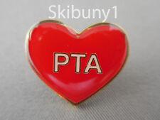 PTA volunteer red heart pin teachers school NIB wholesale pin lot 25. High shine