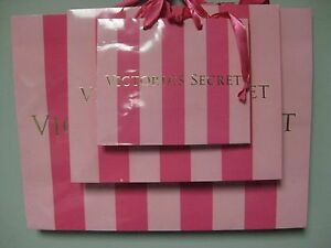 FREE Victoria's Secret Pink Stripe Gift Box w/ Purchase of 3 Bags, 1sm,1med,1lg