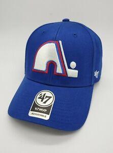 Quebec Nordiques NHL Hockey blue '47 Brand MVP Adjustable Cap Hat new