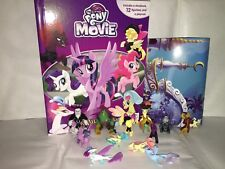 MY LITTLE PONY THE MOVIE BUSY BOOK - STORY 12 FIGURES AND A PLAYMAT CAKE TOPPERS